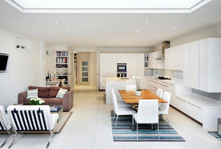 Wohnküche 25 qm m design (51 Fotos): Layout und Design des ...