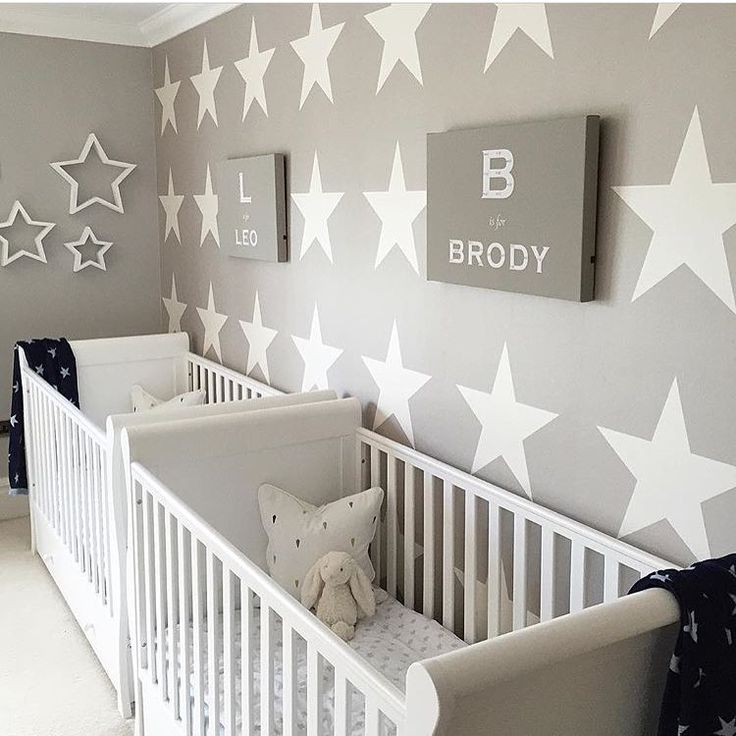 Wallpaper In The Nursery With Stars Design Features