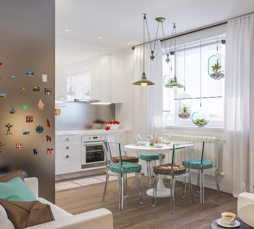 Eine kleine Küche-Wohnzimmer (45 Fotos): Die Gestaltung der ...