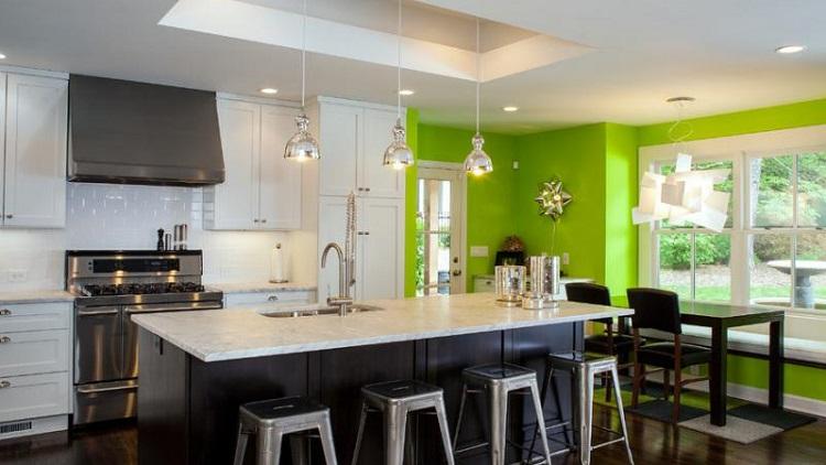 Illuminazione della cucina soggiorno foto il design delle