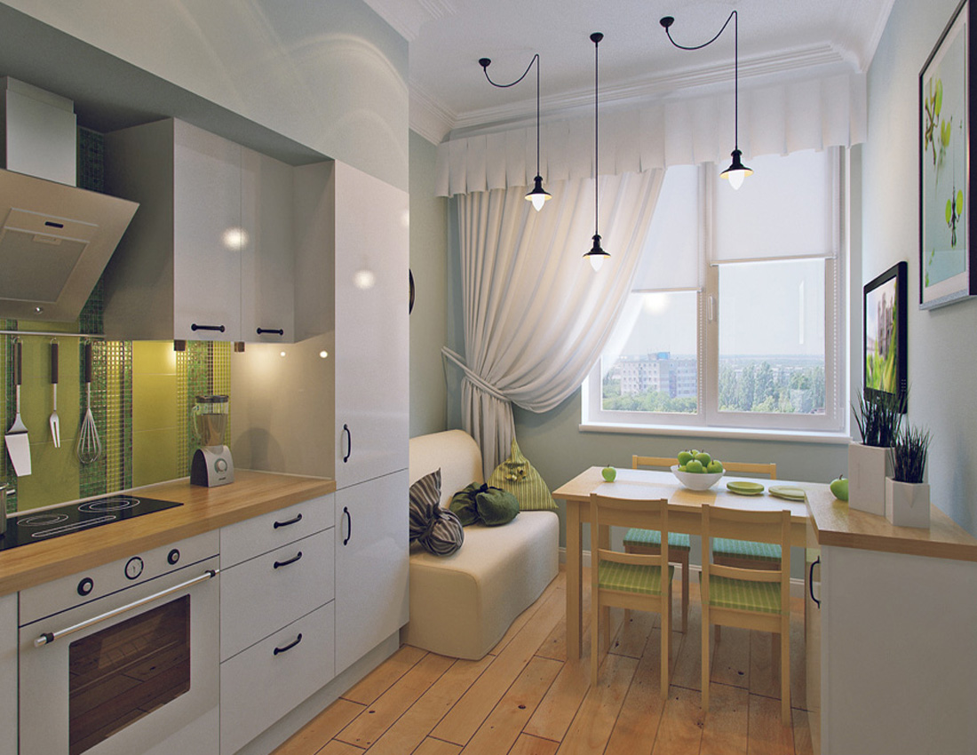 Sala Cucina 25 Mq kitchen-living room design 12 square meters. m (50 photos