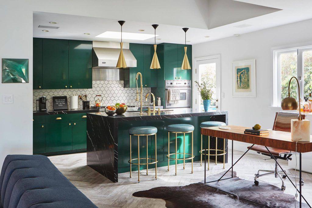 Cucina-soggiorno con un\'isola (38 foto): camere di design di ...