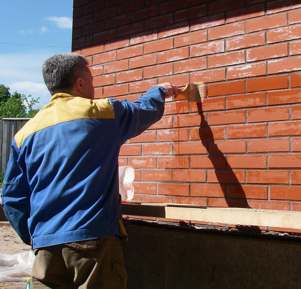 Peinture Pour Brique Extérieur peindre une brique (57 photos): peindre la surface d'un mur