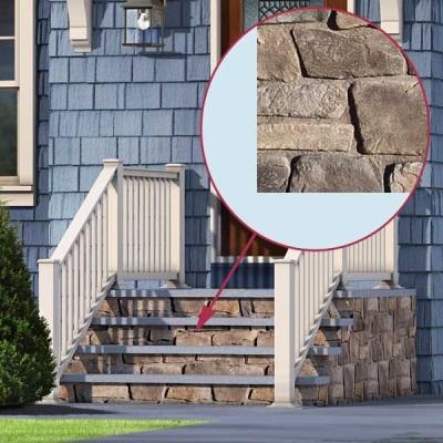 Klinker-trimmad veranda i betong
