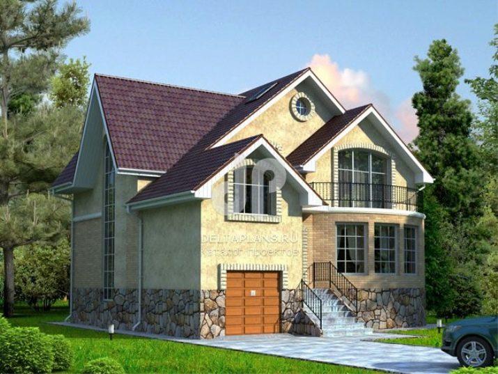 El Diseño De Una Casa De Dos Pisos De 7 Por 7 M 38 Fotos