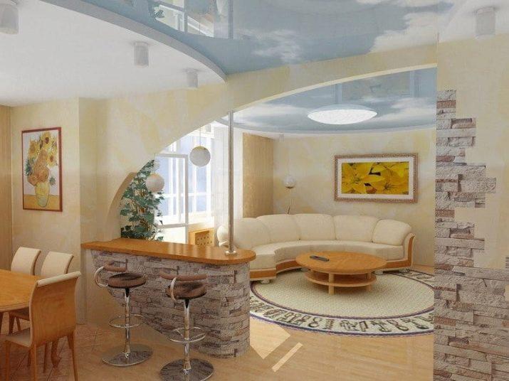 Keuken Woonkamer Ontwerp 175 Foto S Een Gecombineerde Keuken Met Een Kamer In Het Appartement De Nuances Van Een Gecombineerde Ruimte Mooie Opties Voor Een Klein Vierkant