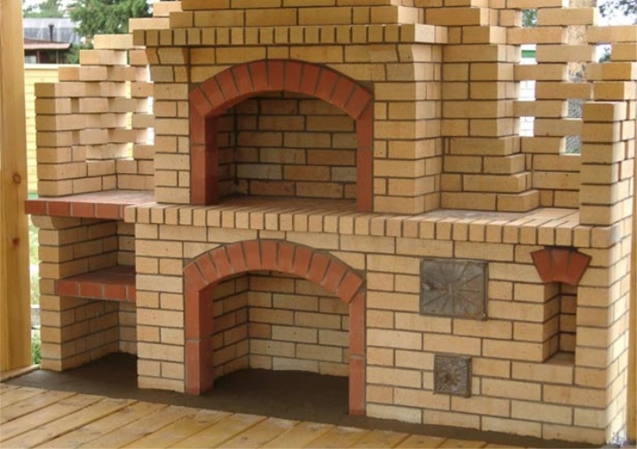 Fireclay brick fireplace