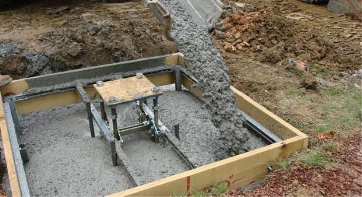 Cement hälls grunden