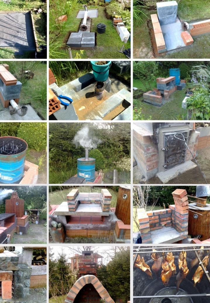 Brick smokehouse med egna händer
