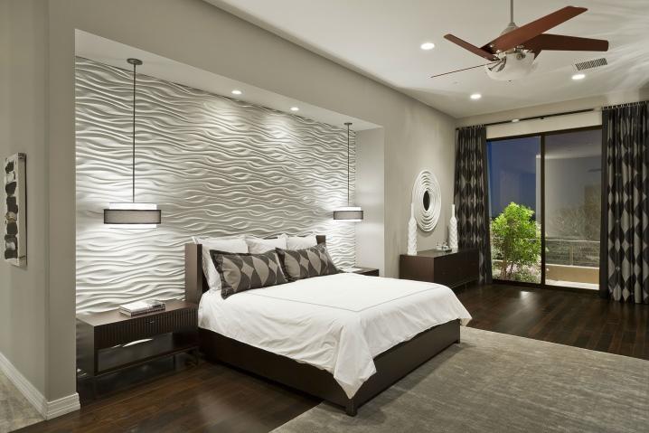 Disegno della parete nella camera da letto (92 foto ...