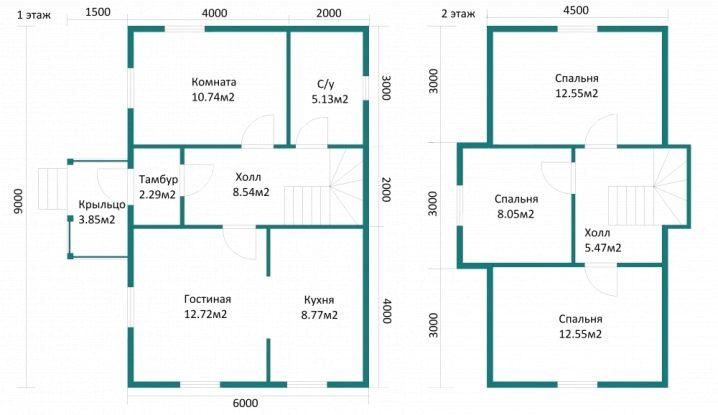 O Layout Da Casa é De 6 Por 9 M 46 Fotos O Projeto De Uma Casa De Um Ou Dois Andares Com Um Tamanho De 6x9 Metros Quadrados Com Um Sótão