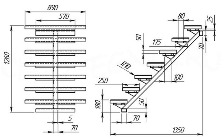 die berechnung der treppe wie man die h he der struktur. Black Bedroom Furniture Sets. Home Design Ideas